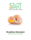 Certified Breakfast Attendant (CBA) START Instructor Guide