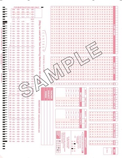 Course Exam Scan Sheet - American Hotel & Lodging