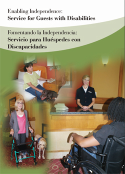 Cover Art for Enabling independence [DVD] : service for guests with disabilities = Fomentando la independencia : servicio para huéspedes con discapacidades