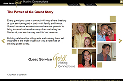Guest Service Gold: Making Connections Online Program and Certification: Spanish