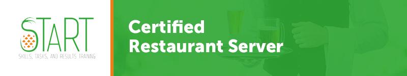 START Certified Restaurant Server