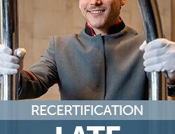Recertification Late Fee